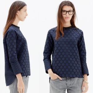 """MADEWELL """"Mood Dot"""" pullover top size S"""